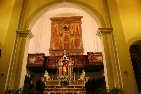 Altare maggiore - L'organo (dettaglio Chiesa Madre) - Castroreale (3998 clic)
