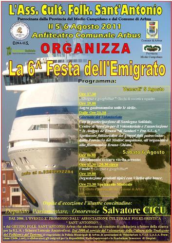 Sardegna, Medio CAmpidano, Arbus, 6 ^ festa dell'Emigrato Arbus (2304 clic)