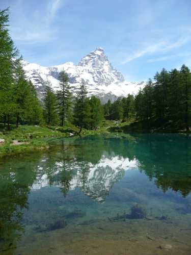 Cervinia -  Riflessi al lago blu (6814 clic)