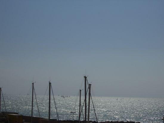 Vele e sfumature di azzurro - Nettuno (2705 clic)