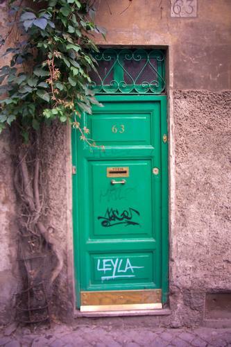 La casa in verde con la porta verde - Roma (1636 clic)