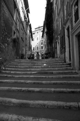 Una scalinata con il NASONE - Roma (1833 clic)