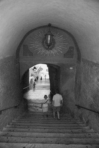 La scala in discesa - Roma (1504 clic)