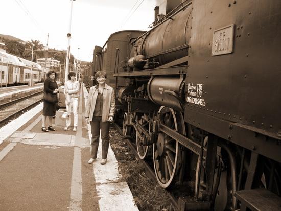 Treno a vapore_02 - Velletri (1977 clic)