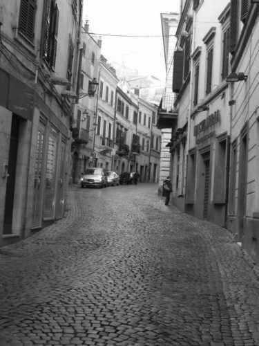 La salita verso il Trivio - Velletri (1966 clic)