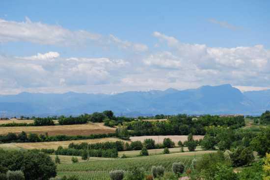 Pozzolengo (Bs) Lago di Garda - La vista dal B&B La Colombara (1853 clic)