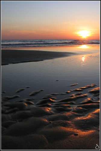 Spiaggia di Serapo al tramonto - Gaeta (4233 clic)