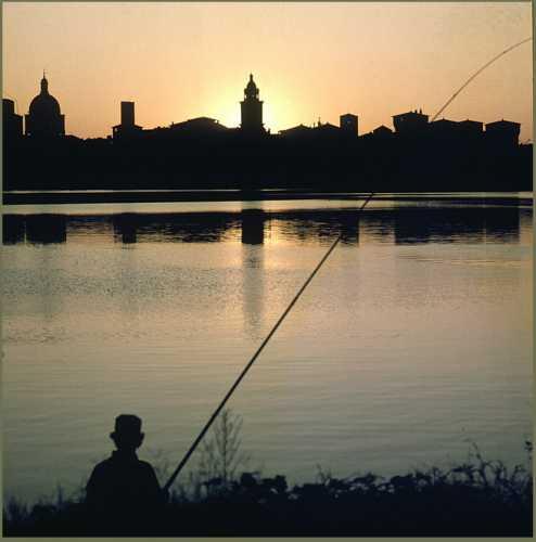Mantova - Profilo al tramonto  (3547 clic)