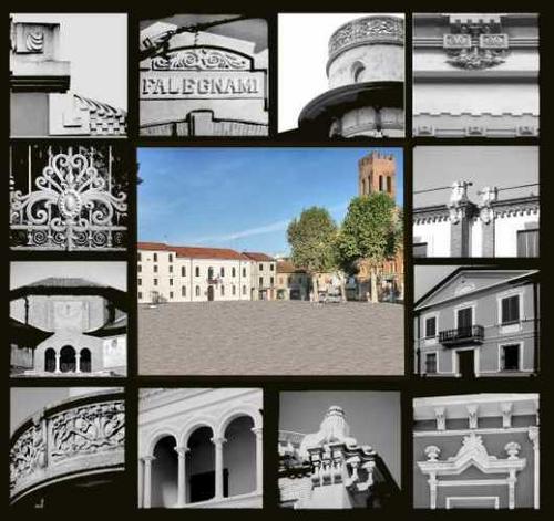 Piazza Carstello - con particolari aspetti architettonici delle abitazioni del centro - Suzzara (2651 clic)