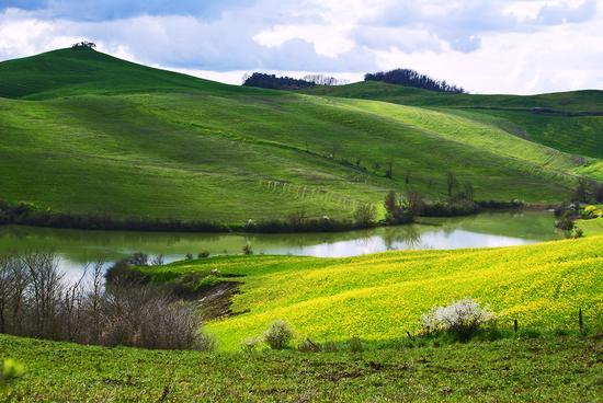 Veduta sul lago - Volterra (3115 clic)
