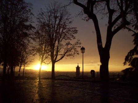 Alba a novembre sulle Mura - Bergamo (3048 clic)