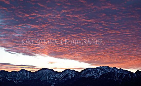 tramonto veduta monti  - SCHIO - inserita il 17-Sep-12