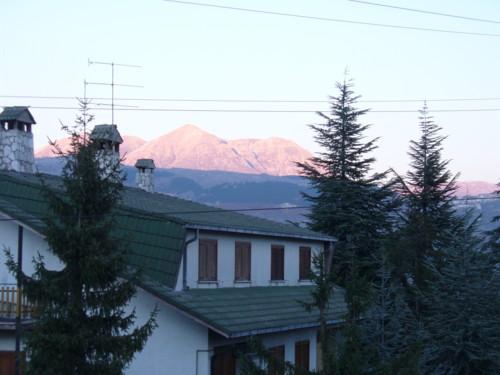 TRAMONTO SUL MONTE VELINO - Tagliacozzo (2676 clic)
