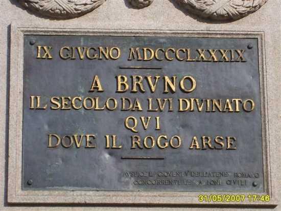 Giordano Bruno - Roma (1752 clic)