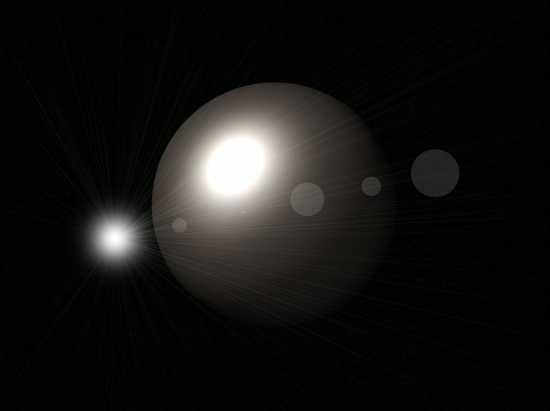 Elaborazione di un'eclissi di luna - Sori (2553 clic)