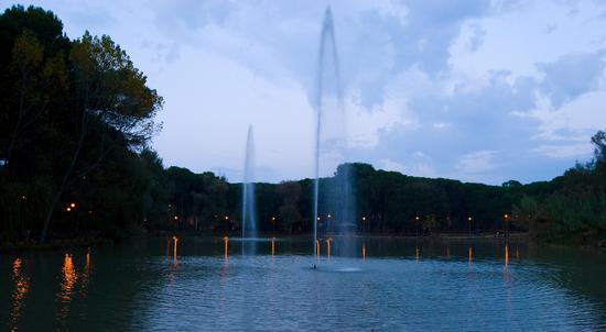 Laghetto artificiale al parco della pinetina - Pescara (1711 clic)