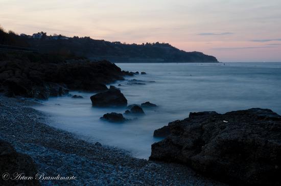 ...il mare impetuoso al tramonto... - Ortona (3712 clic)