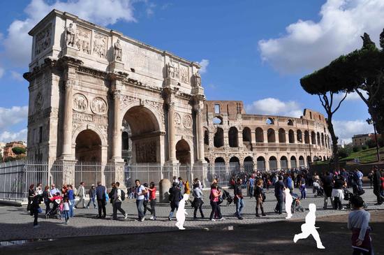 l'Arco di Costantino e il Colosseo - Roma (823 clic)