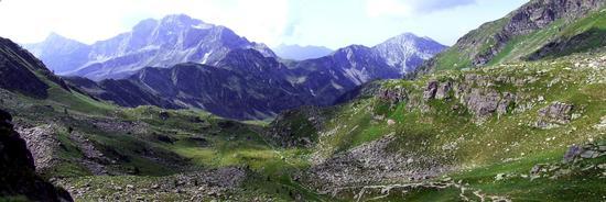 Panorama sud Passo di Mezzeno - Roncobello (1882 clic)