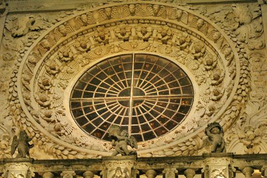 Lecce Basilica Santa Croce Lecce, il Rosone della Basilica, Fotografo Lecce, MARACA FotoGrafia (5865 clic)