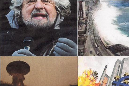 """Election day 2013:THE DAY AFTER..defibrillatori pronti all'uso..tutto """"scricchiola""""da Nord a Sud.. cadono anche meteoriti.. fulmini su S.Pietro ..allora valigie piene..  - Marradi (1017 clic)"""