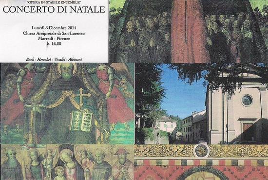sullo sfondo dell'Arcipretale si nota  la Casa Natale di Dino Campana ove  il Sommo Poeta  concepì l'INVETRIATA.. - Marradi (1200 clic)