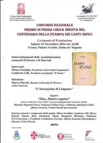 Eventi Culturali..Marradi con Dino nel Salone de'Dugento……la Toscana e la Poesia plaude..  (679 clic)