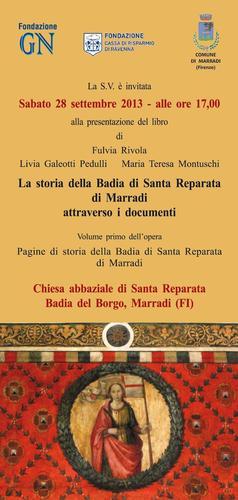 Santa Reparata, un'antica Abbazia nella Valle del Lamone A Marradi alla scoperta di un importante edificio vallombrosiano  L'abbazia di Santa Reparata si colloca in uno dei contesti naturalistici .. < (1006 clic)