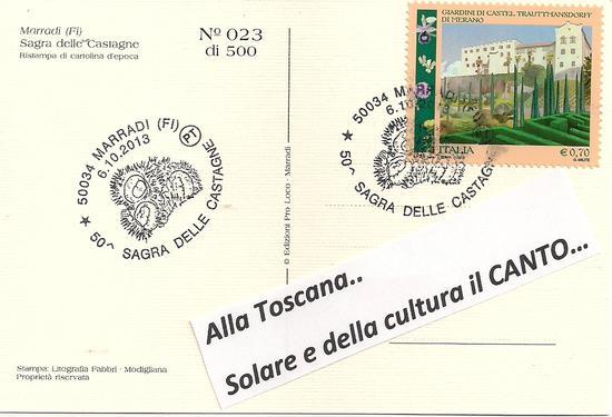 Cartolina di affetto e invito con un bacione a Firenze - Marradi (1526 clic)