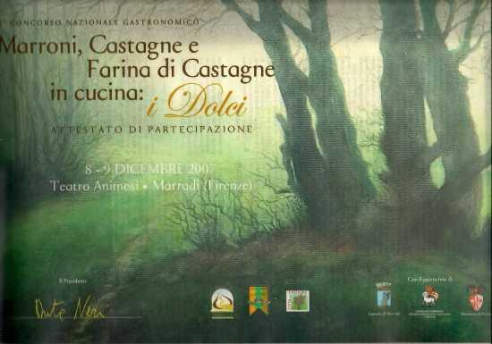 Concorso Nazionale Gastronomico MARRONI CASTAGNE IN CUCINA - Marradi (1535 clic)
