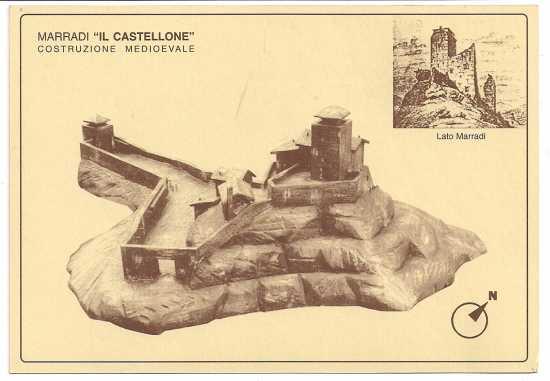 Il Castellone in una ricostruzione di artista - Marradi (2918 clic)