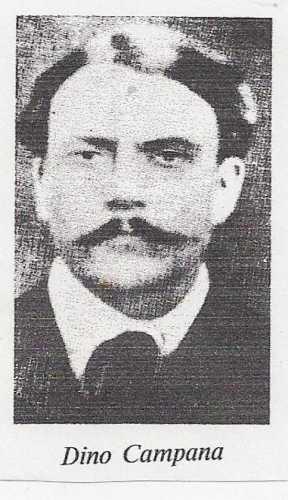Ritratto d'epoca di DINO CAMPANA - Marradi (1924 clic)
