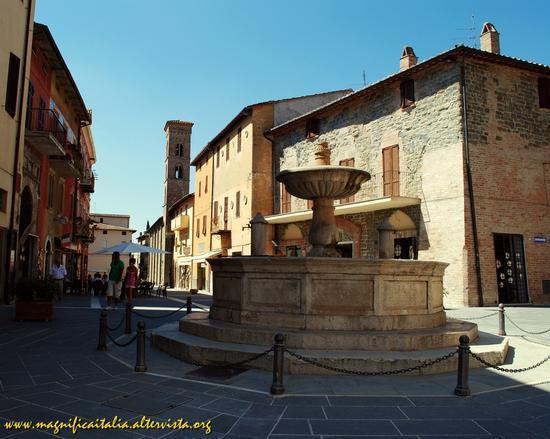 Piazza dei Consoli e fontana - Deruta (2763 clic)