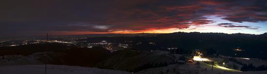 Tramonto dal Mottarone, Piemonte gennaio 2012 (1570 clic)