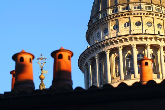 La cupola Antonelliana dettaglio 1, Basilica di San Gaudenzio, Novara dicembre 2010 (6078 clic)