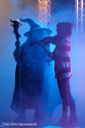 Lindsey Stirling e Gandalf (Marco Ferrari) a NovaAria 2012, Arona (1864 clic)