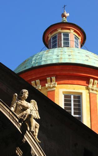 Angelo e cupola, Basilica di San Siro, Genova 2013 (1399 clic)