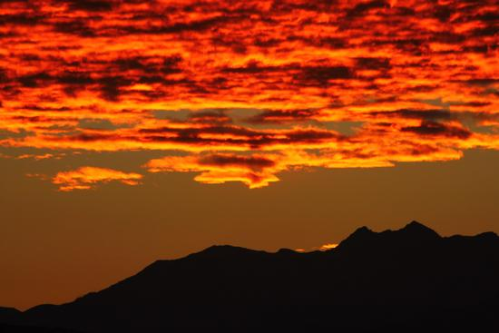 Tramonto sulle alpi visto da Gattico, 2, Piemonte settembre 2010 (1719 clic)