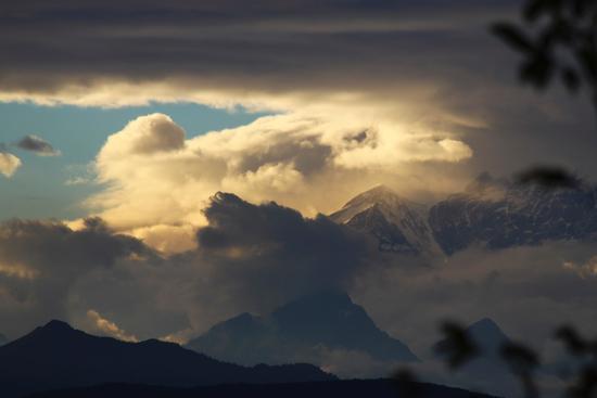 Tramonto sul monte Rosa visto da Gattico, Piemonte settembre 2010 (1677 clic)