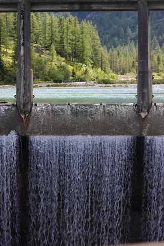 Lago delle fate, la diga 1, Macugnaga, val Anzasca, Piemonte, agosto 2010 (2627 clic)