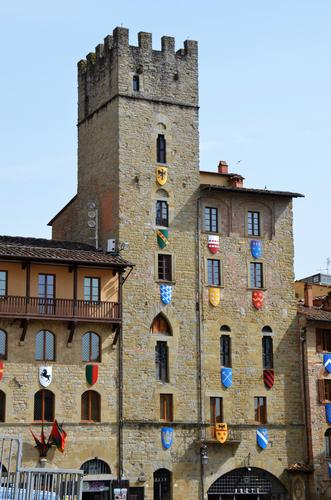 La piazza in festa - Arezzo (426 clic)