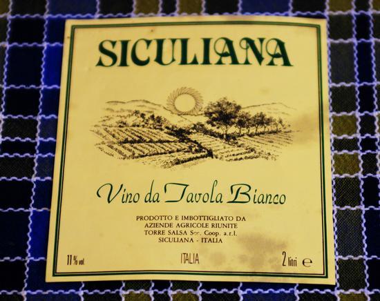 Etichetta  di Vino Bianco - Siculiana (4396 clic)