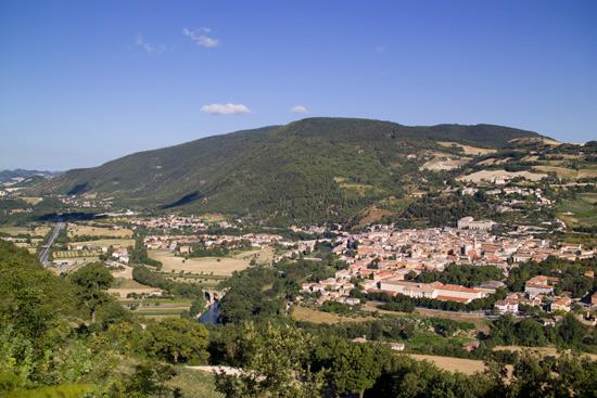 Fossombrone, il Metauro e i monti delle Cesane (3703 clic)
