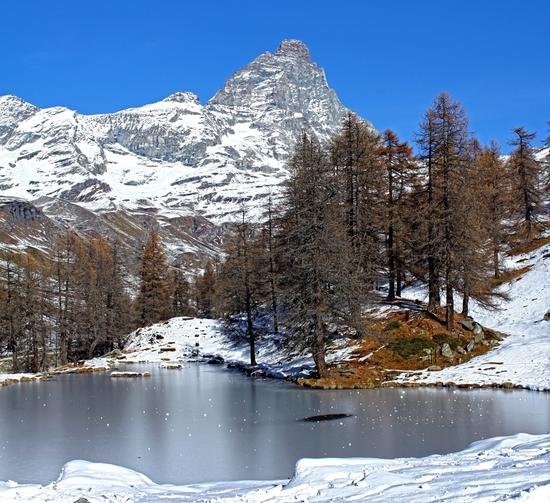 Il Cervino dal Lago Bleu - Cervinia (9504 clic)