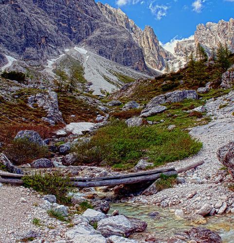 Il Vallone del Popera verso il Passo della Sentinella - Padola (2845 clic)