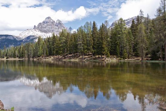 Lago d'Antorno e Tre Cime sullo sfondo - Misurina (3582 clic)