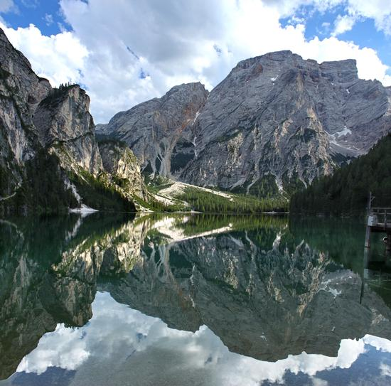 Croda del Becco a specchio nel lago di Braies (4155 clic)