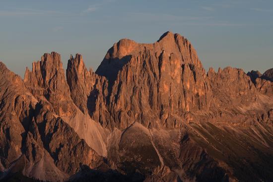 Enrosadira sul Catinaccio - Alpe di siusi (2388 clic)