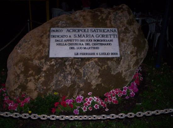 Lapide del Parco dedicato a S.M.Goretti - Nettuno (3145 clic)