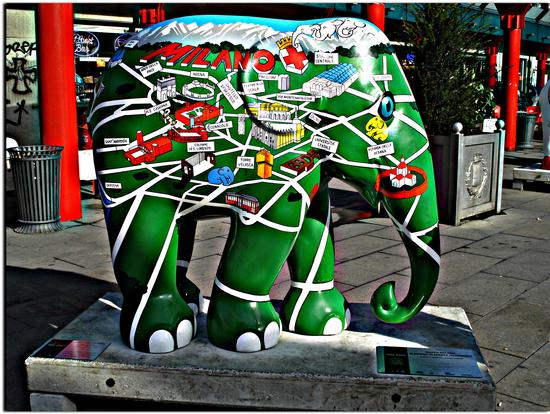 Milan Map - Eleghino Elefante meneghino  by Matteo Cugnasca / Atelier Almayer - Milano (1182 clic)